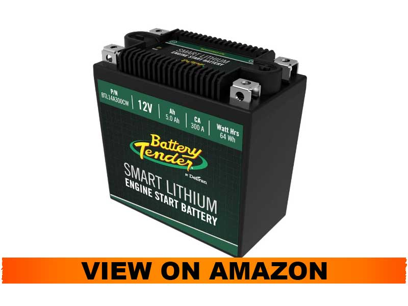 Battery Tender Lithium Motorcycle Battery with Smart Battery Management System