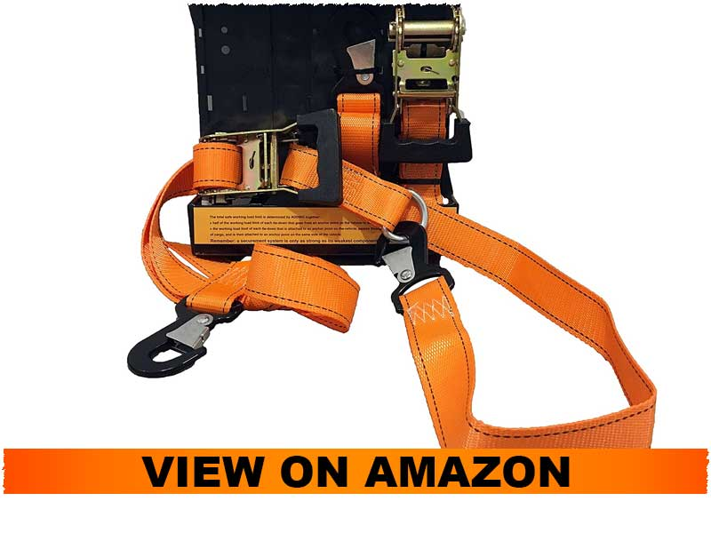 DC Cargo Mall 2 Heavy Duty Motorcycle Ratchet Tie Down Straps