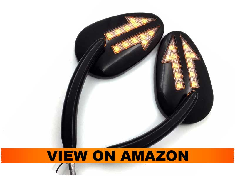 HTTMT LED Turn Signals Side Mirrors for Harley Touring