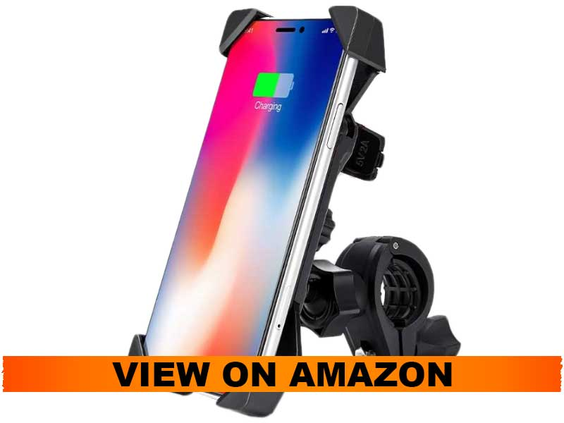 Issyzone Motorcycle Phone Mount Holder with USB Charger