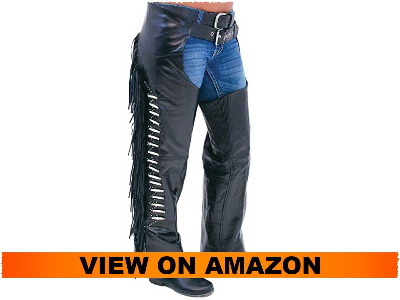 Jamin Leather - Premium Leather Chaps for Ladies with Fringe