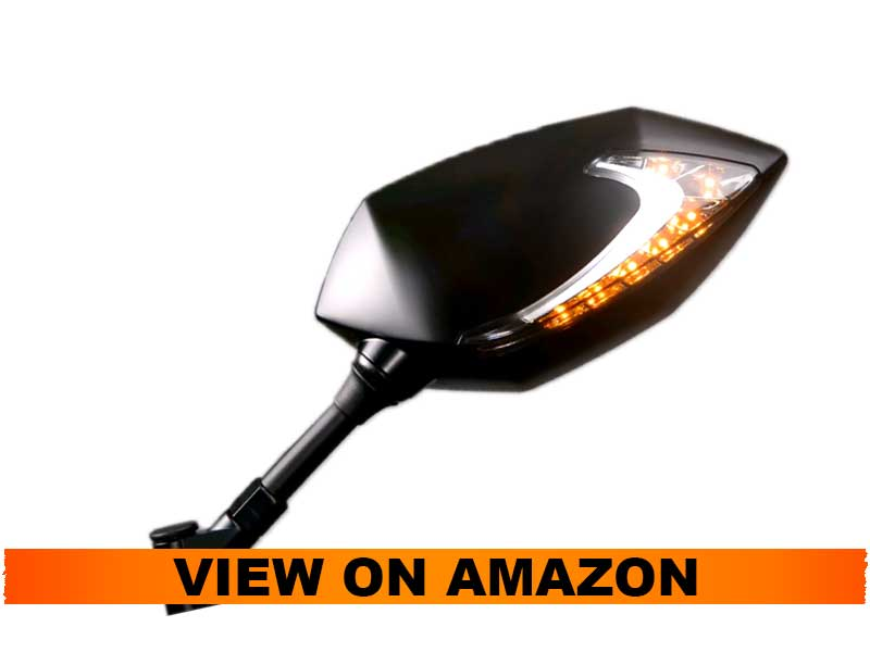 KiWAV Motorcycle Mirrors Dual LED with Sequential Effect for Harley