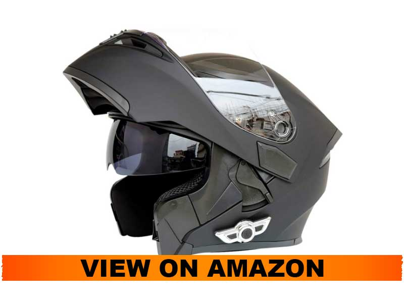 MOPHOTO Bluetooth Integrated Motorcycle Helmet