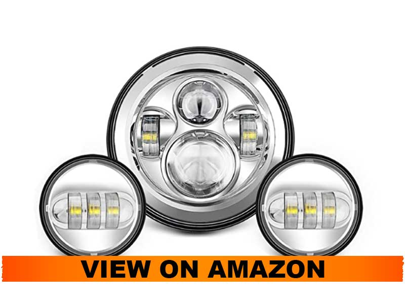 SUNPIE Motorcycle 7 LED Headlight for Harley Road King