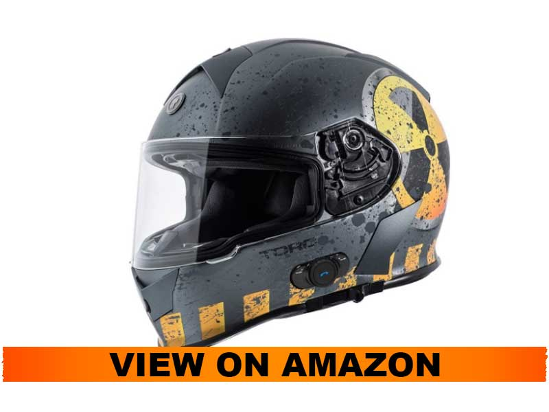 TORC T14B Bluetooth Integrated Full Face Helmet