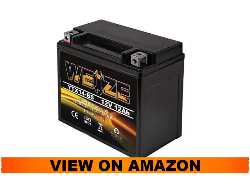 Weize YTX14-BS High Performance Battery