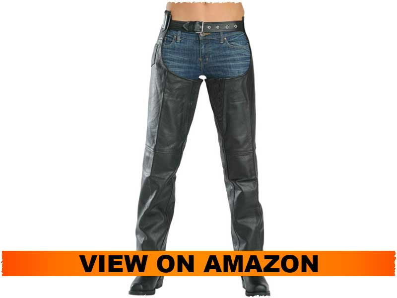 Xelement 7553 Women's Leather Chaps