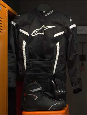 check your riding gear