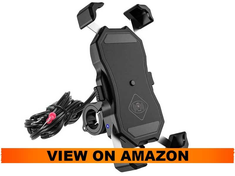 iMESTOU Waterproof Motorcycle Phone Mount with Wireless Charger