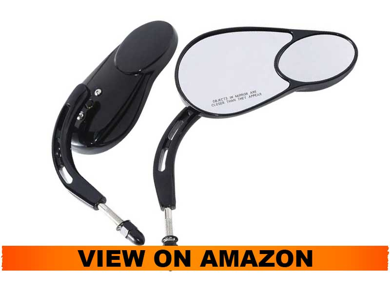 TCMT Rear View Mirrors For Harley Davidson Sportster, XL 1200 883, Touring, Road King, Street Glide, Dyna