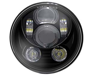 Wisamic 5.75 inch LED Headlight Compatible with Harley Davidson